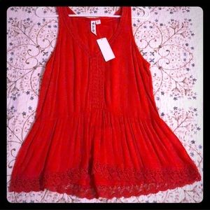 NWT Others Follow red blouse
